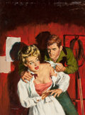 Paintings, George Mayers (American, 20th Century). Raw Passions, paperback cover, 1951. Oil on board. 20.25 x 15 in. (image). Signe... (Total: 3 Items)
