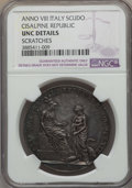 Italy, Italy: Cisalpine Republic Scudo of 6 Lire Anno VIII (1800) UNCDetails (Scratches) NGC,...