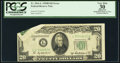 Error Notes:Foldovers, Fr. 2061-L $20 1950B Federal Reserve Note. PCGS Apparent Very Fine30.. ...