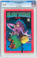 Bronze Age (1970-1979):Alternative/Underground, Slow Death Funnies #1 (Last Gasp, 1970) CGC VF/NM 9.0 Off-white to white pages....
