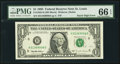 Error Notes:Miscellaneous Errors, Fr. 1922-H $1 1995 Federal Reserve Note. PMG Gem Uncirculated 66 EPQ.. ...
