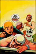 Original Comic Art:Covers, Marc Hempel Jonny Quest #15 Cover Color Guide Original Art(Comico, 1987). ...