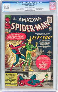 The Amazing Spider-Man #9 (Marvel, 1964) CGC VF+ 8.5 Off-white to white pages