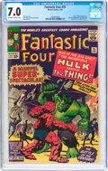 Silver Age (1956-1969):Superhero, Fantastic Four #25 (Marvel, 1964) CGC FN/VF 7.0 Off-white to white pages....