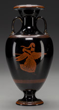 Ceramics & Porcelain, British:Antique  (Pre 1900), A Bates Brown-Westhead & Moore Greek Revival Amphora-Form Vase:Mercury & Minerva, Hanley (Stoke-on-Trent), Staffordshire, E...