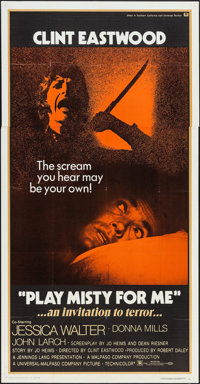 """Play Misty For Me (Universal, 1971). Three Sheet (41"""" X 79""""). Thriller"""