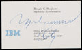 Boxing Collectibles:Autographs, Muhammad Ali Signed Business Card....