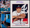 Baseball Cards:Autographs, Frank Thomas and Andruw Jones Signed Cards (2)....