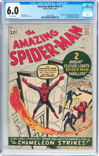 The Amazing Spider-Man #1 (Marvel, 1963) CGC FN 6.0 Off-white pages