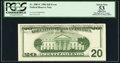 Error Notes:Offsets, Fr. 2083-C $20 1996 Federal Reserve Note. PCGS Apparent About New53.. ...