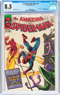 The Amazing Spider-Man #21 (Marvel, 1965) CGC VF+ 8.5 Off-white to white pages