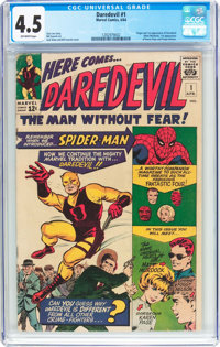 Daredevil #1 (Marvel, 1964) CGC VG+ 4.5 Off-white pages