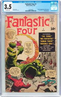 Fantastic Four #1 (Marvel, 1961) CGC VG- 3.5 Off-white pages