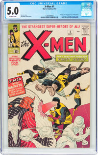 X-Men #1 (Marvel, 1963) CGC VG/FN 5.0 Off-white pages