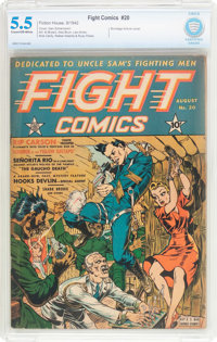 Fight Comics #20 (Fiction House, 1942) CBCS FN- 5.5 Cream to off-white pages