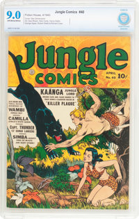 Jungle Comics #40 (Fiction House, 1943) CBCS VF/NM 9.0 Off-white to white pages