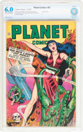 Golden Age (1938-1955):Science Fiction, Planet Comics #51 (Fiction House, 1947) CBCS FN 6.0 Cream tooff-white pages....