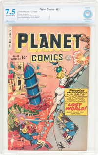 Planet Comics #63 (Fiction House, 1949) CBCS VF- 7.5 Off-white to white pages