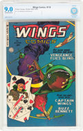 Golden Age (1938-1955):War, Wings Comics #118 (Fiction House, 1952) CBCS VF/NM 9.0 Off-white towhite pages....