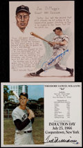Baseball Collectibles:Photos, Joe DiMaggio and Ted Williams Signed Prints (2)....