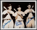 Baseball Collectibles:Photos, DiMaggio, Mantle and Williams Multi-Signed Photograph....