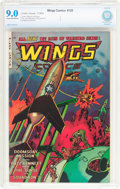 Golden Age (1938-1955):War, Wings Comics #120 (Fiction House, 1953) CBCS VF/NM 9.0 Cream tooff-white pages....