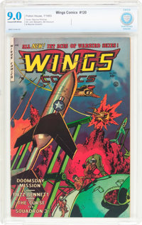 Wings Comics #120 (Fiction House, 1953) CBCS VF/NM 9.0 Cream to off-white pages