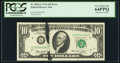 Error Notes:Ink Smears, Fr. 2022-G $10 1974 Federal Reserve Note. PCGS Very Choice New64PPQ.. ...