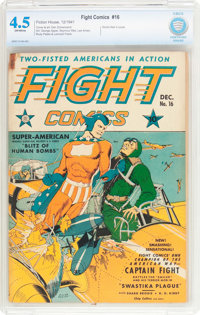 Fight Comics #16 (Fiction House, 1941) CBCS VG+ 4.5 Off-white pages