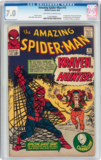 The Amazing Spider-Man #15 (Marvel, 1964) CGC FN/VF 7.0 Off-white to white pages
