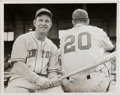Baseball Collectibles:Photos, 1940's Mel Ott Original News Photograph, PSA/DNA Type 1....