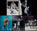Basketball Collectibles:Photos, Basketball Greats Signed Photographs Lot of 5....