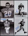 Football Collectibles:Photos, Football Greats Signed Photographs Lot of 4....