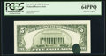Error Notes:Ink Smears, Fr. 1978-H $5 1985 Federal Reserve Note. PCGS Very Choice New64PPQ.. ...