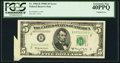 Error Notes:Attached Tabs, Fr. 1966-B $5 1950E Federal Reserve Note. PCGS Extremely Fine40PPQ.. ...