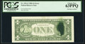 Error Notes:Ink Smears, Fr. 1911-F $1 1981 Federal Reserve Note. PCGS Choice New 63PPQ.....