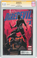Modern Age (1980-Present):Superhero, Daredevil #1 Ron Garney Cover Variant Second Printing SignatureSeries (Marvel, 2016) CGC NM/MT 9.8 White pages....