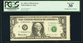 Error Notes:Miscellaneous Errors, Fr. 1921-F $1 1995 Federal Reserve Note. PCGS Very Fine 30.. ...