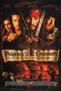 """Pirates of the Caribbean: The Curse Of The Black Pearl (Buena Vista, 2003). One Sheet (27"""" X 40"""") DS. Adventur..."""