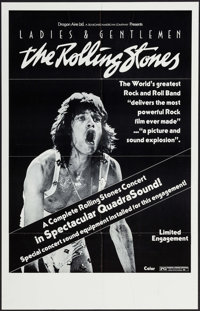 """Ladies and Gentlemen: The Rolling Stones (Dragon Aire, 1973). One Sheet (24.25"""" X 38"""") QuadraSound Style. Rock..."""
