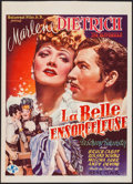 """Movie Posters:Romance, The Flame of New Orleans (Universal, 1945). First Post-War Release Trimmed Belgian (14.25"""" X 20""""). Romance.. ..."""