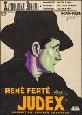 """Movie Posters:Foreign, Judex 34 (Pax-Film, 1934). Pre-War Belgian (23.25"""" X 33.5""""). Foreign.. ..."""