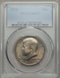 Kennedy Half Dollars, 1978 50C MS67 PCGS. PCGS Population (32/0). NGC Census: (10/0).Mintage: 14,350,000. ...