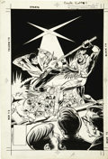 Original Comic Art:Covers, Mike Grell - Karate Kid #8 Cover Original Art (DC, 1993)....