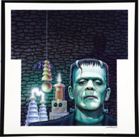 "Don Ivan Punchatz - Frankenstein's Monster, Pepsi ""Monster Match"" Illustration Original Art (Pepsi, 1991)"