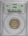 Proof Barber Quarters: , 1911 25C PR65 PCGS. PCGS Population (30/54). NGC Census: (41/64). Mintage: 543. Numismedia Wsl. Price for NGC/PCGS coin in ...