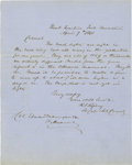 Military & Patriotic:Civil War, ROSWELL SABINE RIPLEY: DRAMATIC CIVIL WAR-DATE AUTOGRAPH LETTER SIGNED....