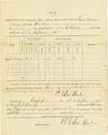 Military & Patriotic:Civil War, ROBERT E. LEE: PARTLY-PRINTED DOCUMENT SIGNED TWICE....