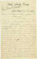 Military & Patriotic:Civil War, WILLIAM W. AVERELL: AUTOGRAPH LETTER SIGNED....