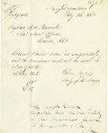 Military & Patriotic:Civil War, GIDEON WELLES: HISTORIC CIVIL WAR-DATE MILITARY LETTER SIGNED....